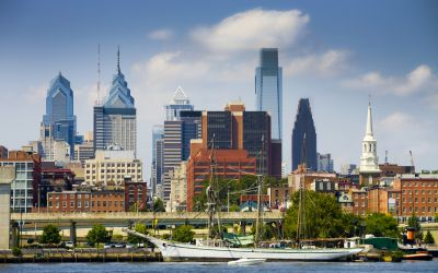 city skyline of Philadelphia