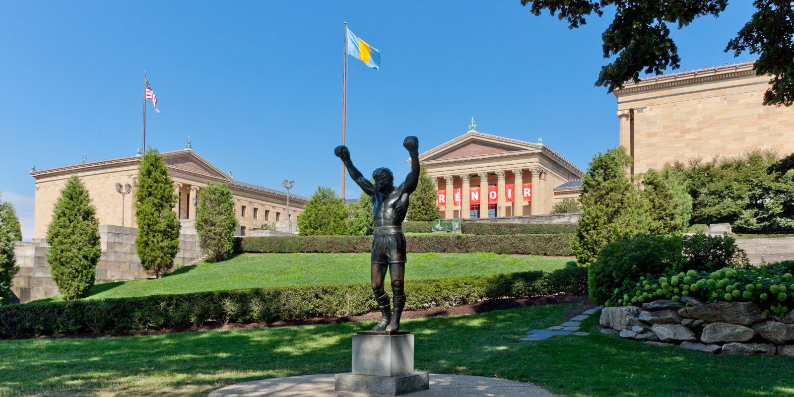 Rocky Steps Near Penn's View Hotel