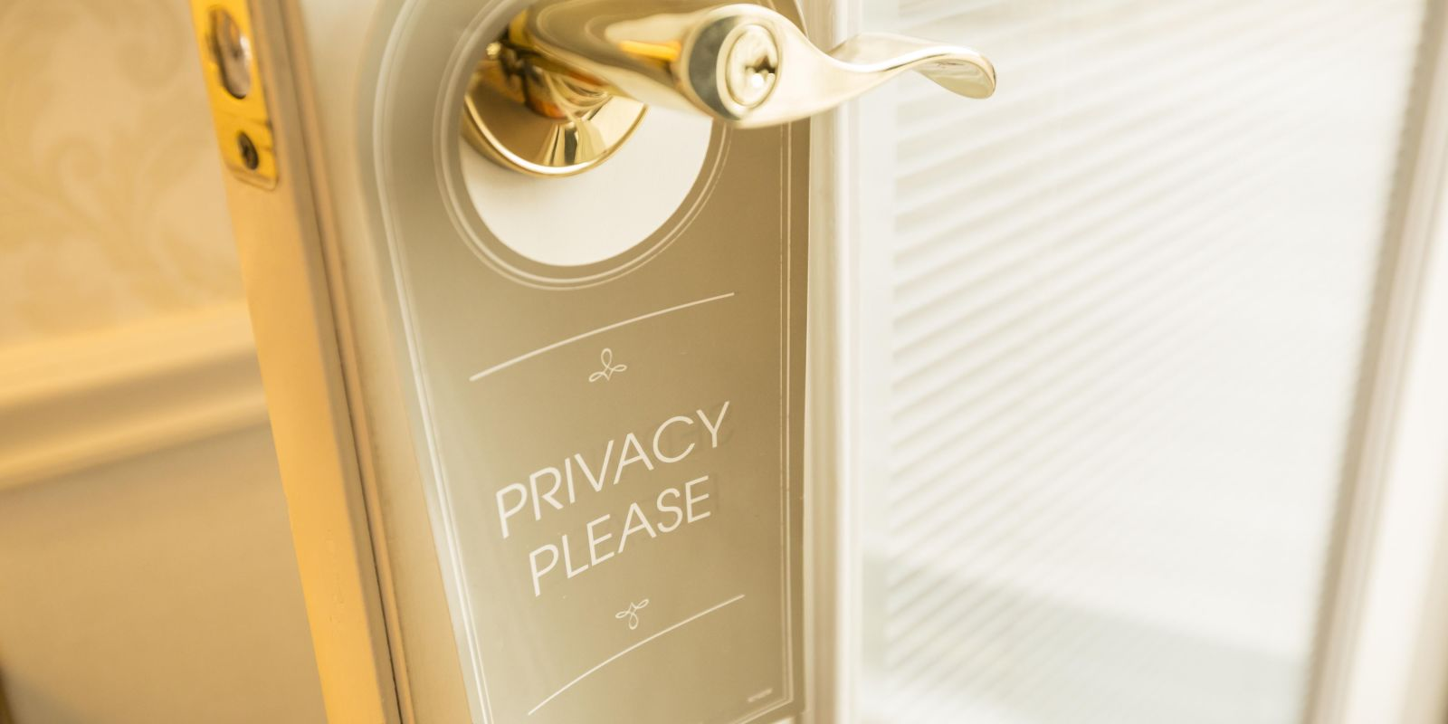 Privacy Sign at Penn's View Hotel